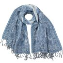 Stola Cut-Out MAHOBA blau 180x65cm Wolle