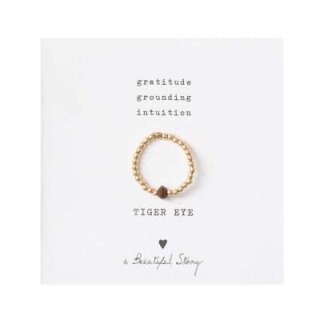 Sparkle TIGER EYE Ring vergoldet S/M