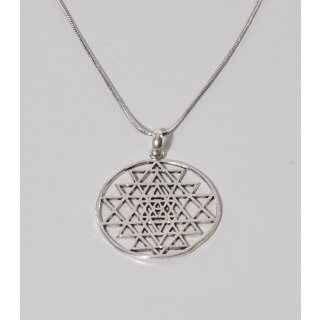 HALSKETTE Sri Yantra, Messing L 56cm verstellbar